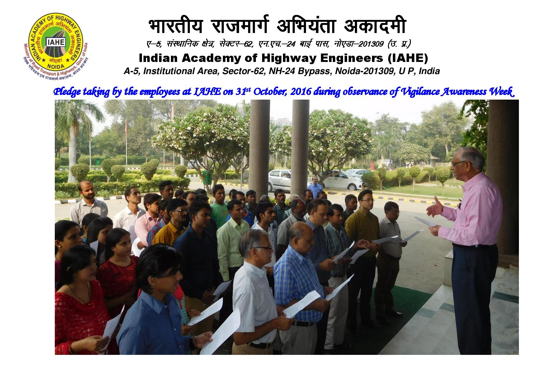 Pledge taking by the employees at IAHE -page-001